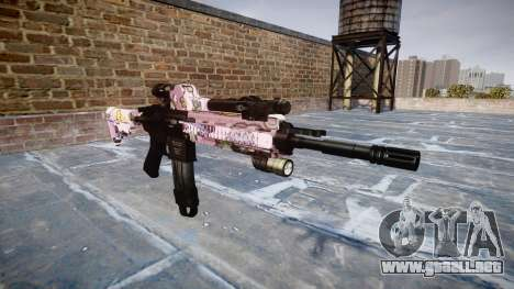 Automatic rifle Colt M4A1 kawaii para GTA 4