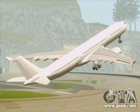 Airbus A330-300 Full White Livery para vista inferior GTA San Andreas