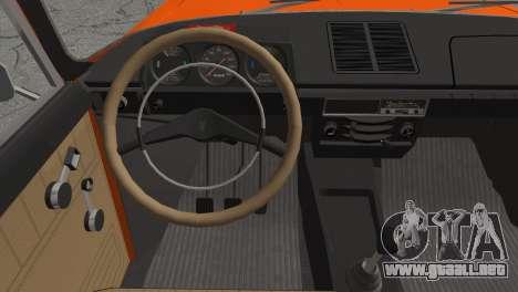 AZLK 412 v2 para GTA San Andreas vista posterior izquierda