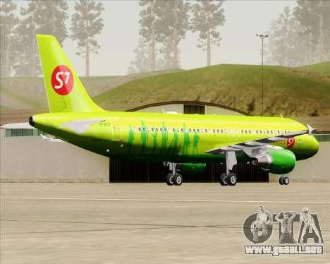 Airbus A320-214 S7-Siberia Airlines para la visión correcta GTA San Andreas