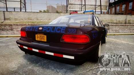 Vapid Police Cruiser LSPD Generation [ELS] para GTA 4 Vista posterior izquierda