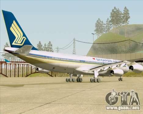 Airbus A340-313 Singapore Airlines para GTA San Andreas vista hacia atrás
