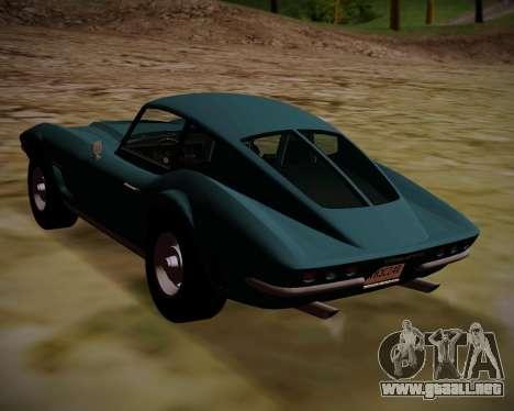 Coquette Classic GTA 5 DLC para GTA San Andreas left