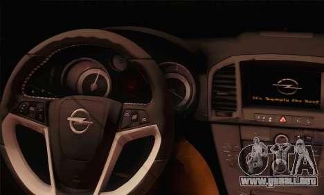 Opel Insignia OPC ATS Cup para GTA San Andreas vista posterior izquierda