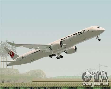 Airbus A350-941 Japan Airlines para vista inferior GTA San Andreas