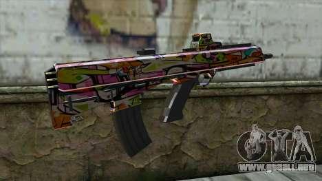 Graffiti Assault rifle para GTA San Andreas segunda pantalla