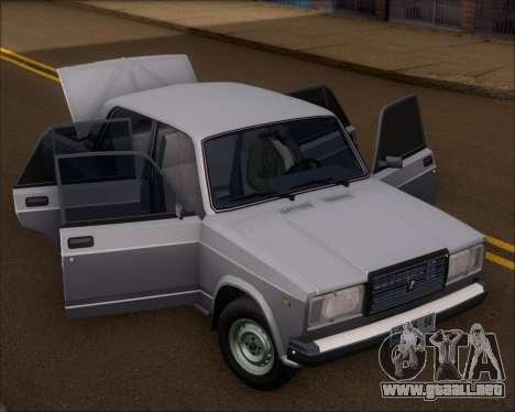 LADA 2107 para GTA San Andreas vista hacia atrás