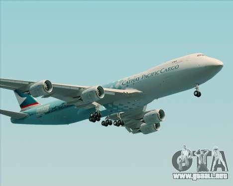 Boeing 747-8 Cargo Cathay Pacific Cargo para GTA San Andreas vista posterior izquierda