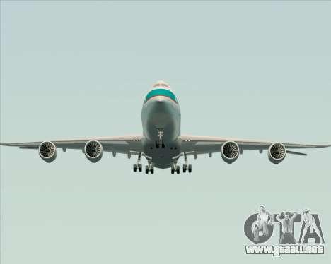 Boeing 747-8 Cargo Cathay Pacific Cargo para vista inferior GTA San Andreas