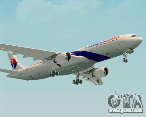 Airbus A330-323 Malaysia Airlines para visión interna GTA San Andreas