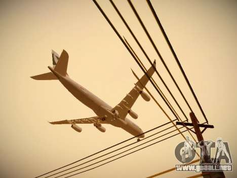 Airbus A340-300 Cathay Pacific para GTA San Andreas interior