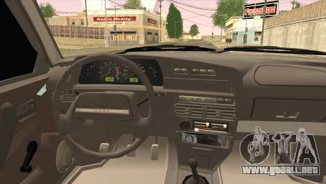 ВАЗ 2109 M1 Mixfight para GTA San Andreas vista posterior izquierda