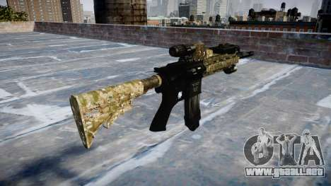 Automatic rifle Colt M4A1 devgru para GTA 4 segundos de pantalla