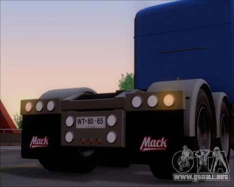 Mack Pinnacle 2006 para las ruedas de GTA San Andreas