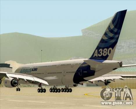 Airbus A380-861 para GTA San Andreas vista posterior izquierda
