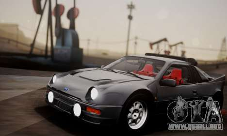 Ford RS200 Evolution 1985 para visión interna GTA San Andreas
