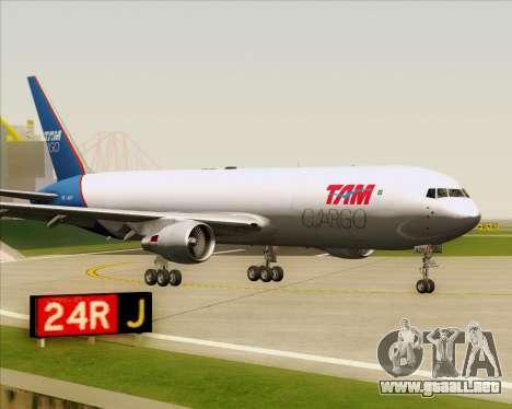 Boeing 767-300ER F TAM Cargo para GTA San Andreas left