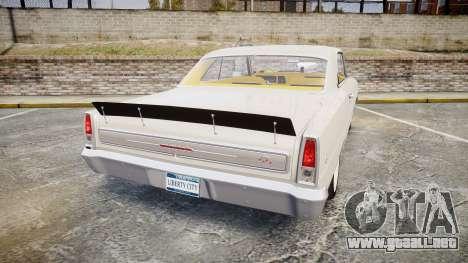 Chevrolet II Nova SS 1966 Custom [EPM] para GTA 4 Vista posterior izquierda