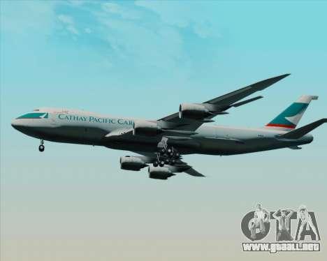 Boeing 747-8 Cargo Cathay Pacific Cargo para visión interna GTA San Andreas