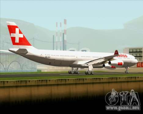 Airbus A340-313 Swiss International Airlines para GTA San Andreas vista posterior izquierda