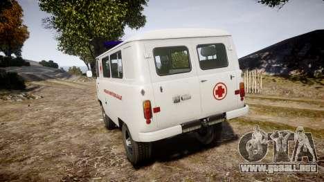 UAZ-39629 ambulancia Hungría para GTA 4 Vista posterior izquierda