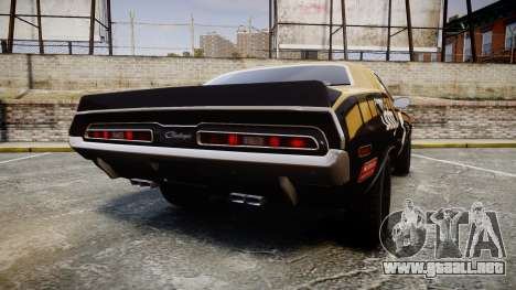 Dodge Challenger 1971 v2.2 PJ6 para GTA 4 Vista posterior izquierda