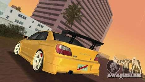 Subaru Impreza WRX 2002 Type 5 para GTA Vice City visión correcta