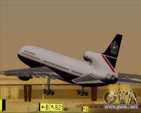 Lockheed L-1011 TriStar British Airways para GTA San Andreas interior