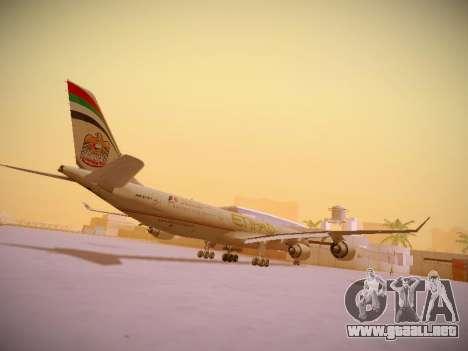 Airbus A340-600 Etihad Airways para la visión correcta GTA San Andreas
