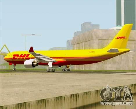 Airbus A330-300P2F DHL para la visión correcta GTA San Andreas