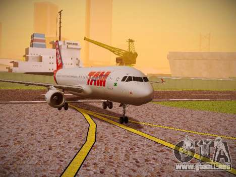 Airbus A320-214 TAM Airlines para GTA San Andreas left