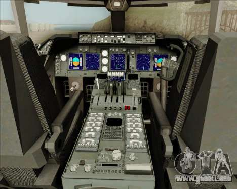 Boeing 747-8 Cargo Cathay Pacific Cargo para GTA San Andreas interior