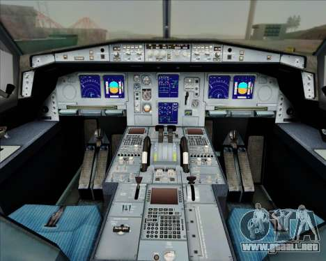 Airbus A330-300 China Eastern Airlines para GTA San Andreas interior