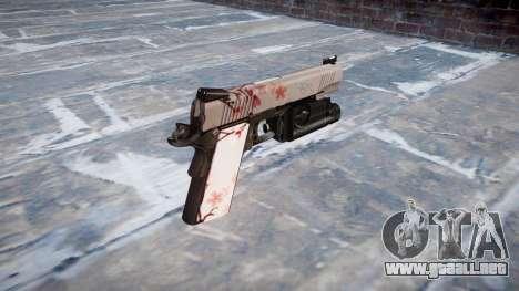 Pistola de Kimber 1911 flor de Cerezo para GTA 4 segundos de pantalla