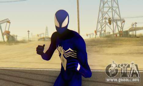 Skin The Amazing Spider Man 2 - Suit Symbiot para GTA San Andreas quinta pantalla