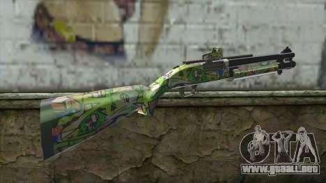 Graffiti Shotgun para GTA San Andreas segunda pantalla