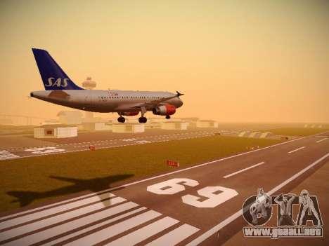 Airbus A319-132 Scandinavian Airlines para la visión correcta GTA San Andreas