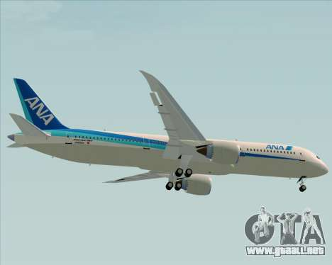 Boeing 787-9 All Nippon Airways para vista lateral GTA San Andreas