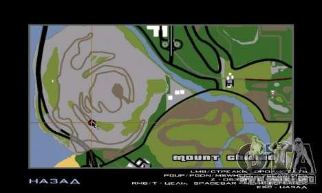 Sasquatch (Bigfoot) en el monte Chiliad para GTA San Andreas sucesivamente de pantalla