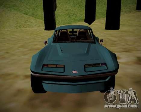 Coquette Classic GTA 5 DLC para GTA San Andreas vista posterior izquierda