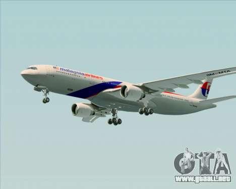 Airbus A330-323 Malaysia Airlines para la vista superior GTA San Andreas