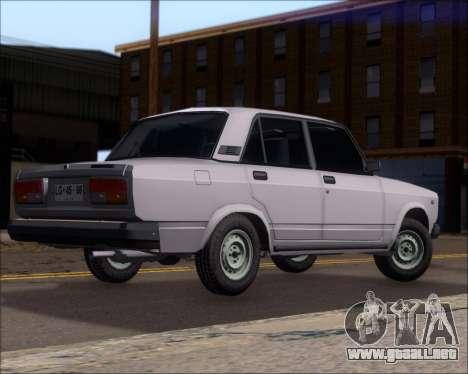 LADA 2107 para la visión correcta GTA San Andreas