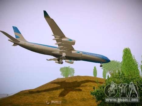 Airbus A340-300 De Aerolíneas Argentinas para vista lateral GTA San Andreas