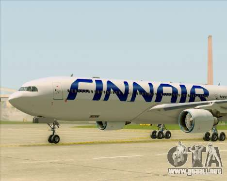 Airbus A330-300 Finnair (Current Livery) para vista inferior GTA San Andreas