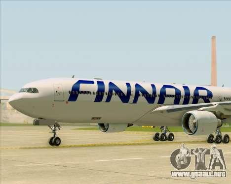 Airbus A330-300 Finnair (Current Livery) para vista inferior GTA San Andreas