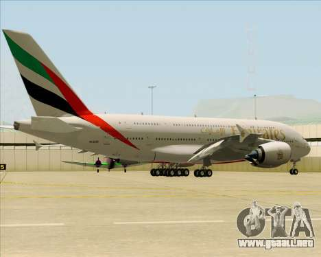 Airbus A380-841 Emirates para la visión correcta GTA San Andreas