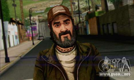 Kenny from The Walking Dead v2 para GTA San Andreas tercera pantalla