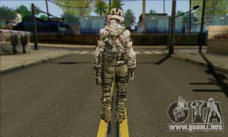 Task Force 141 (CoD: MW 2) Skin 2 para GTA San Andreas segunda pantalla