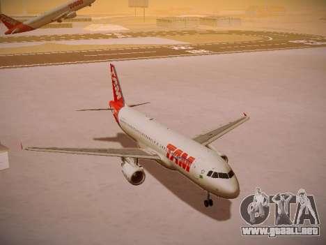 Airbus A320-214 TAM Airlines para visión interna GTA San Andreas