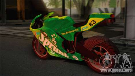 Bati RR 801 Sprunk para GTA San Andreas left